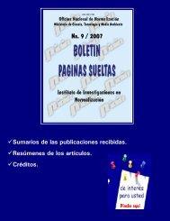 No. 9 / 2007 - Boletín Páginas Sueltas