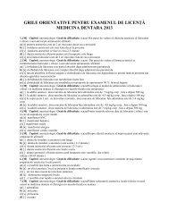 Medicină dentară - Facultatea de Medicina si Farmacie Oradea
