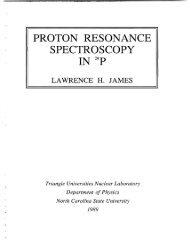 proton resonance spectroscopy - Triangle Universities Nuclear ...