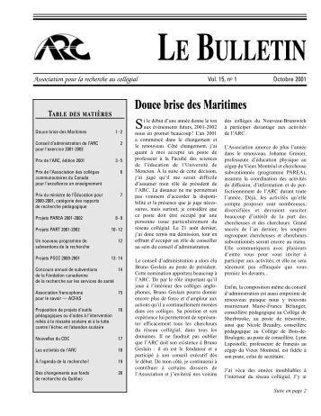 Bulletin de l 39 aphcq vol 17 no 1 hiver 2011 c gep du for Cegep vieux montreal piscine