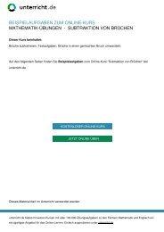 Subtraktion von Brüchen - Mathematik-Nachhilfe ... - unterricht.de