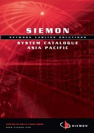 System Catalog 2008 - Siemon