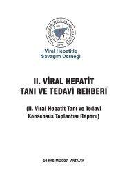 viral hepatit tanı ve tedavi rehberi - VHSD
