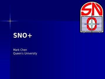 SNO+ Intro and Overview - Neutrino Geoscience 2008 - snolab