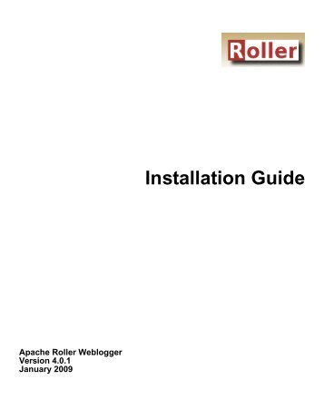 Installation Guide - Welcome! - The Apache Software Foundation