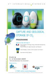 Programme - Capture and Geological storage of CO2