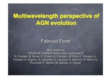 Multiwavelength perspective of AGN evolution - Inaf