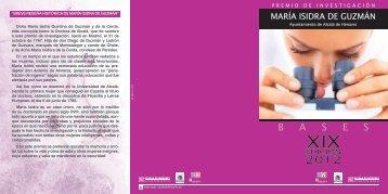 Bases de la Convocatoria del Premio Mª Isidra de Guzmán 2012
