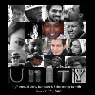 Unity Banquet Program 2009 - Student Affairs - Case Western ...