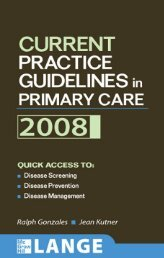 Current Practice Guidelines in Primary Care 2008 - JOHN J ...