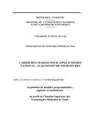 Cahier des charges de l'Appel d'Offres National N°01/2013/PAQ ...