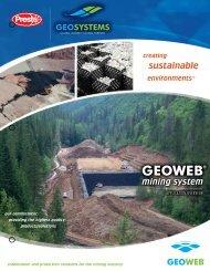 Geoweb® Mining General Brochure (PDF, 529kb)