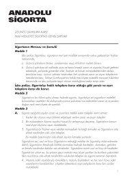 Üçüncü Şahıs Sorumluluk Sigortası Genel Şartları - Anadolu Sigorta