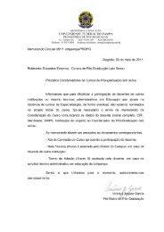 Procedimento para a participação de Docentes Externos e ...