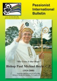 Bishop Paul Michael Boyle, C.P.