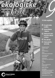 Ekologické listy 9/2006 září - Hnutí DUHA