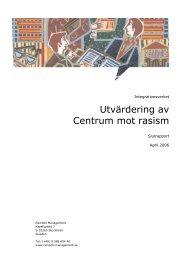 Utvärdering av Centrum mot rasism - Mångkulturellt centrum
