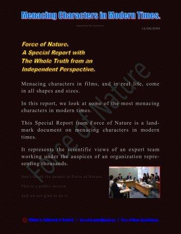 Menacing Characters ... Bates - Pesticide Truths