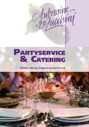 Partyservice- und Catering-Prospekt - Aubergine & Zucchini