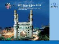 AIPPI Forum & ExCo 2009 11 – 14 October 2009