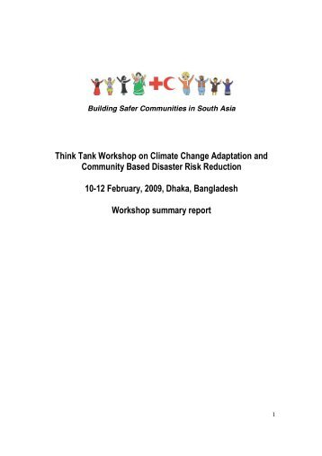 Think Tank Workshop on Climate Change Adaptation - Climate Centre