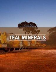 TEAL MINERALS - The International Resource Journal