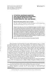 attention, response inhibition, and face-information processing in ...