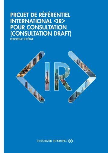 projet de référentiel international  pour consultation ... - The IIRC