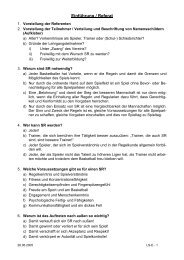 Einführung / Referat - DBB-AG Ausbildung