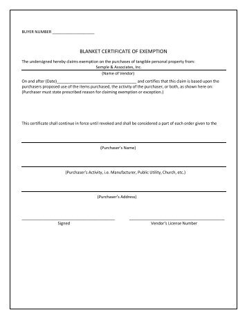 New York Sales Tax Exemption Form - National Grid