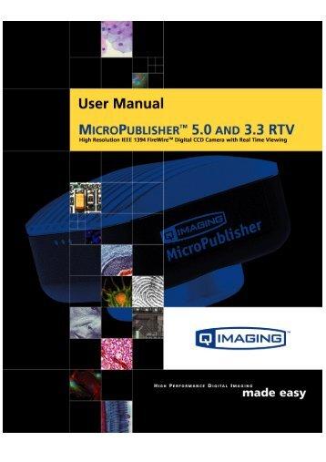 MicroPublisher RTV User's Manual - QImaging