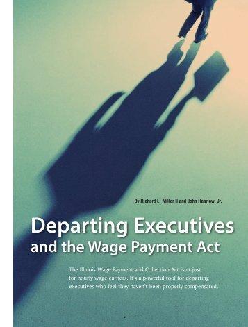 Departing Executives - Novack and Macey LLP