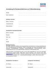 Fragebogen Sonderschule / Anmeldung Sonderschüler