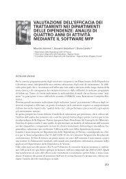 Valutazione dell'efficacia dei trattamenti nei dipartimenti ... - Dronet