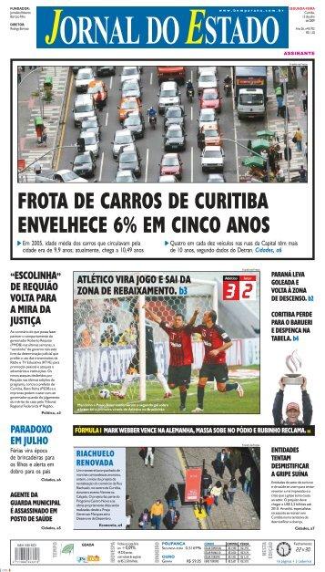 frota de carros de curitiba envelhece 6% em cinco anos - Bem Paraná