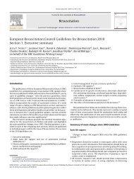 European Resuscitation Council Guidelines for ... - Auletta99.net