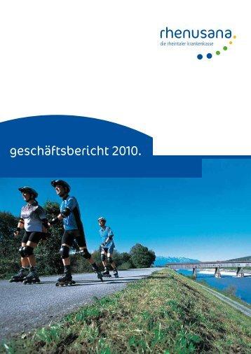 geschäftsbericht 2010. - Rhenusana