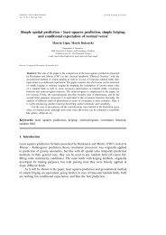 Simple spatial prediction – least squares prediction, simple kriging ...