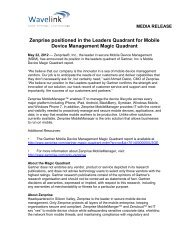 Zenprise positioned in the Leaders Quadrant of Gartner's ... - Wavelink