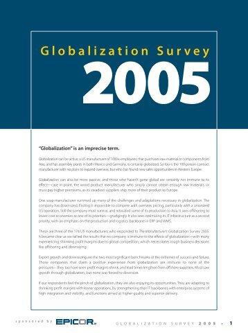 Globalization Survey 2005 - AccountingWEB