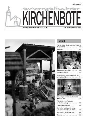 BIBELAUSSTELLUNG 2005 Die - evangelische Pfarrgemeinde ...