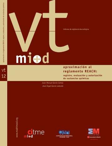 Aproximación al reglamento REACH: registro, evaluación ... - Madri+d