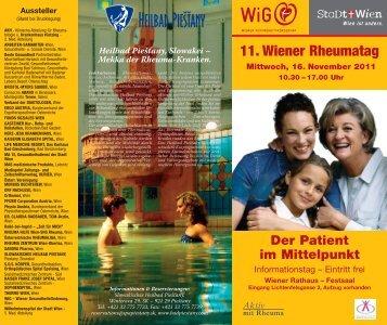 11. Wiener Rheumatag - Rheuma Hilfe