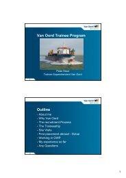 Van Oord Trainee Program Outline