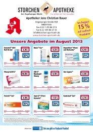 Unsere Angebote im August 2013 - Storchen-Apotheke