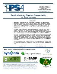 Download - The Pesticide Stewardship Alliance TPSA