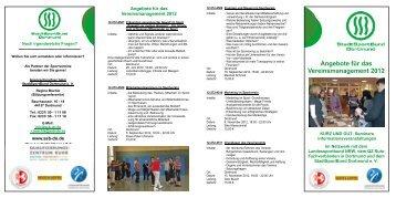 Angebote für das Vereinsmanagement 2012 - StadtSportBund ...
