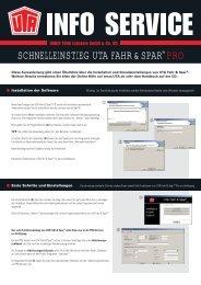 SCHNELLEINSTIEG UTA FAHR&SPAR® PRO