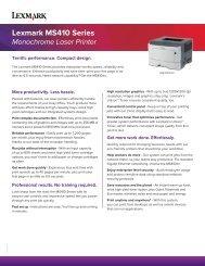 Lexmark MS410 Series Monochrome Laser Printer