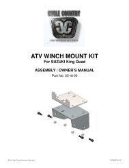 owners manual cc25-4100 - winch mount kit suz - Schuurman B.V.